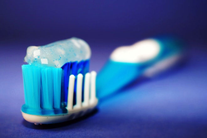 Toothbrush with tooth paste